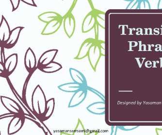 Transitive Phrasal Verbs