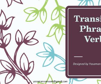 Transitive Phrasal Verbs