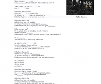 Song Worksheet: Hello by Adele (Present Perfect)