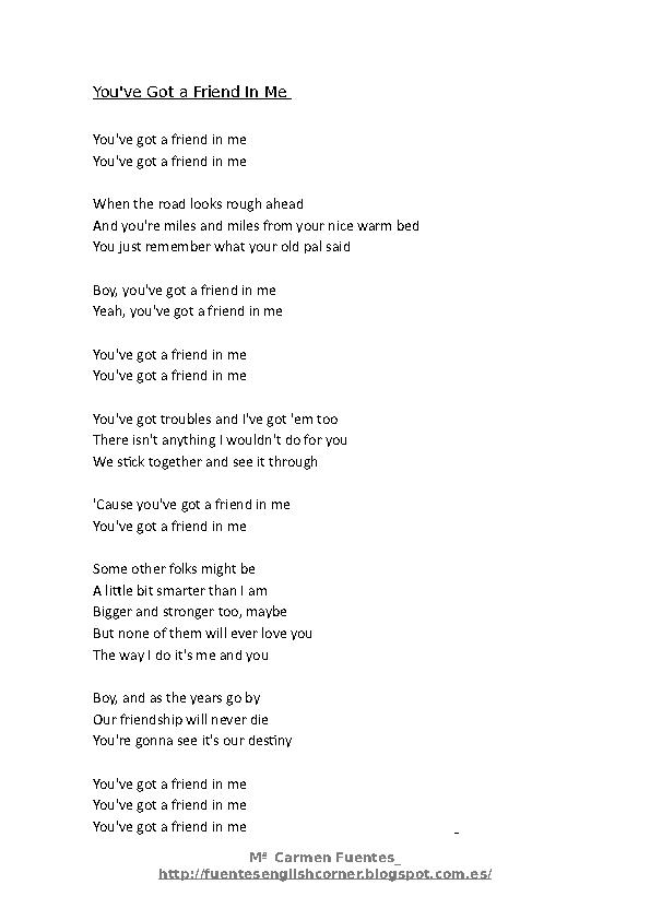 Toy story friend in me lyrics