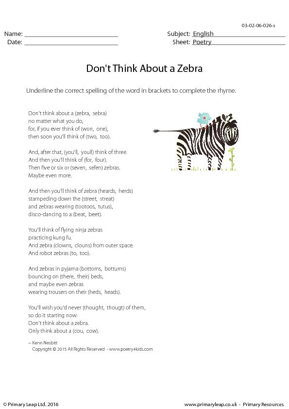 zebras essay