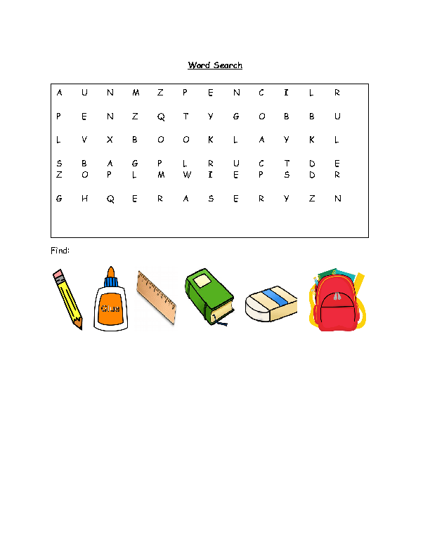 265 Free Back To School Activities Worksheets