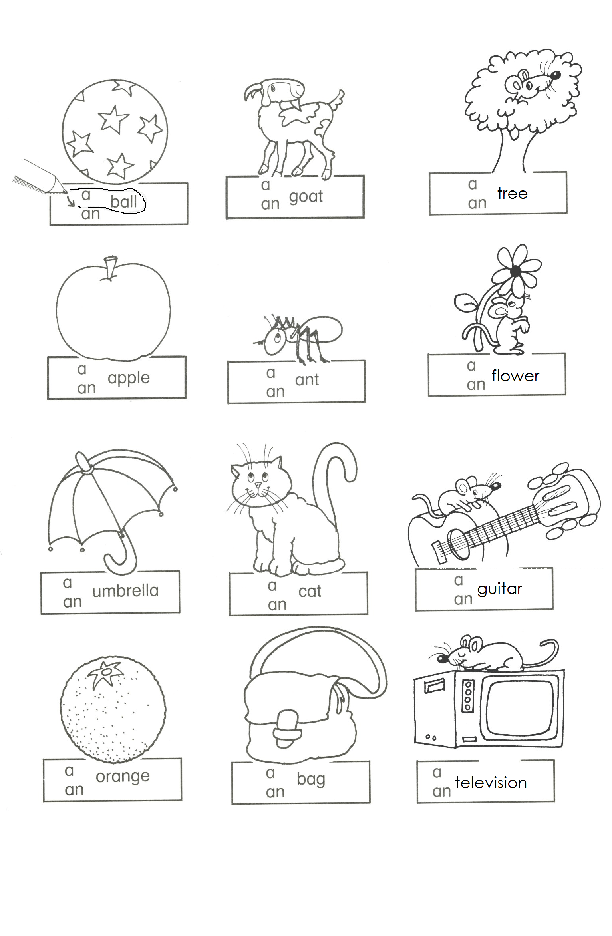 105 FREE Indefinite Article Worksheets – A and an Worksheets