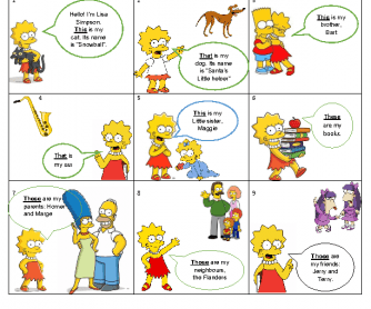 Presentation of Demonstrative Pronouns through the Simpsons