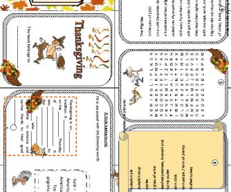 Thanksgiving Minibook