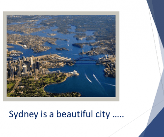 Sydney Is a Beautiful City