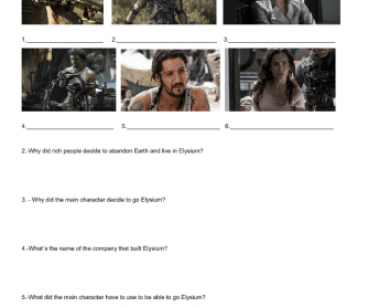 Movie Worksheet: Elysium