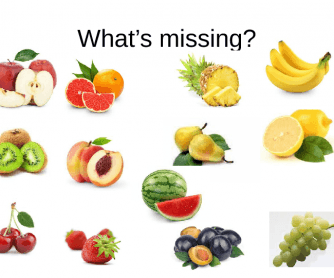 Fruit - What's Missing?