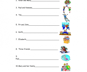 Printables Present Progressive Worksheets 392 present continuous worksheets and lesson plans free write what the children are doing