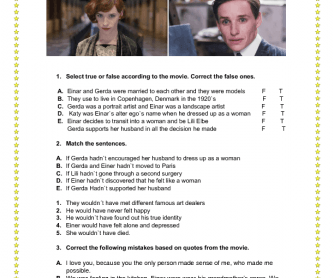 movie worksheet the danish girl. Black Bedroom Furniture Sets. Home Design Ideas