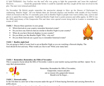Bonfire Night - Reading and Speaking