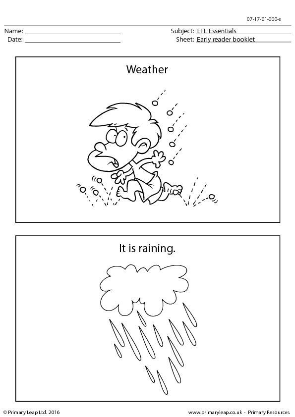 ESL Resource - Weather Booklet