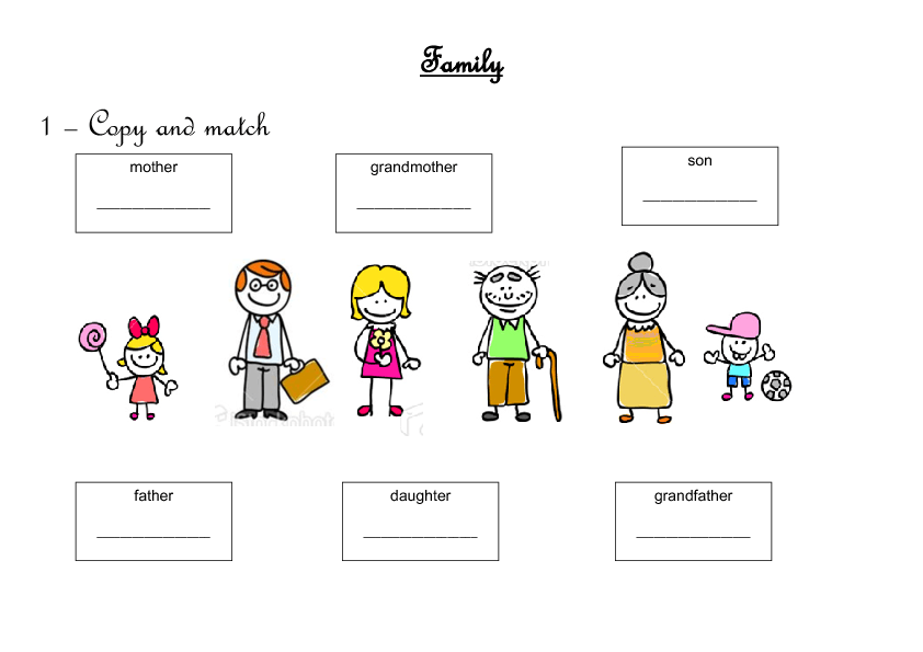 {344 FREE FamilyFriends Worksheets – Family Worksheet