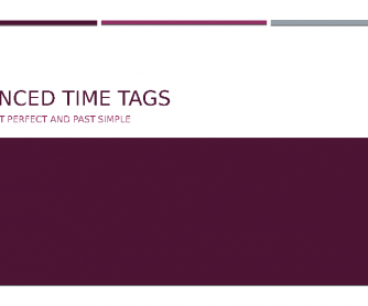 Present Perfect and Simple Past Advanced Practice with Time Tags