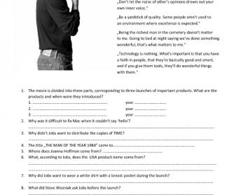 Movie Worksheet: Steve Jobs 2015