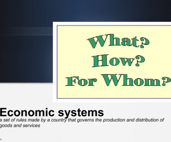 Economic System Lesson