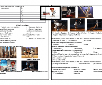 Movie Worksheet: Mr. Peabody and Sherman