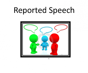 Reported Speech. Summary Chart