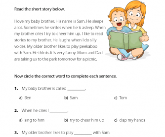 ESL Reading Comprehension - My Baby Brother