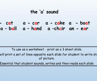 The 'A' Sound