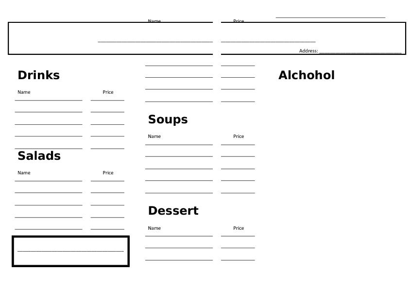 Restaurant Menu Math Worksheets Free menu math worksheets free – Menu Math Worksheet