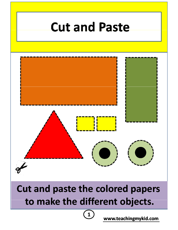 cut and paste activity worksheets. Black Bedroom Furniture Sets. Home Design Ideas