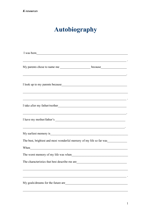 Write my contents of a biography