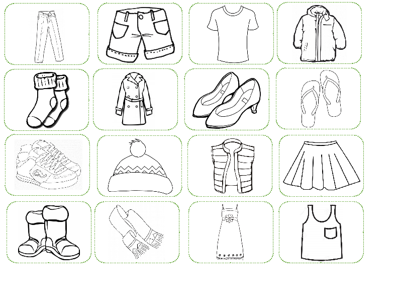 Printables Of Preschool Worksheet Clothes
