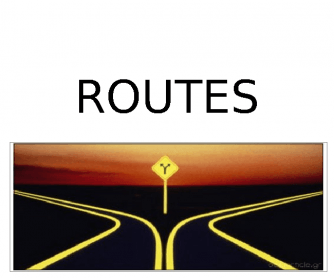 How to Talk about Routes