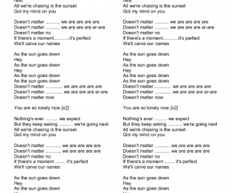 Song Worksheet: Sun Goes Down - Relative Pronouns