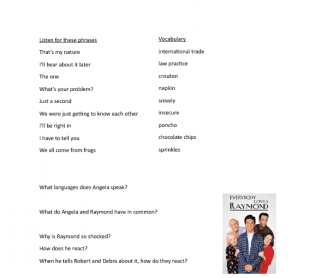 Movie Worksheet: The One - Everybody Loves Raymond, Season 7, Episode 9