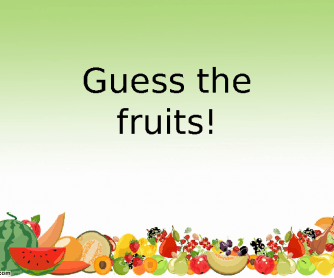 Guess the Fruits! Juices Game