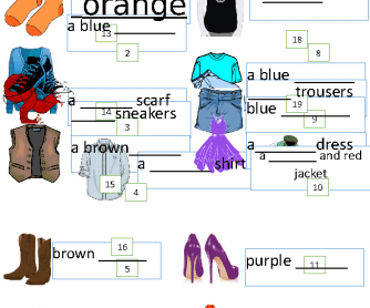 Clothes and Colors: Complete the Sentences