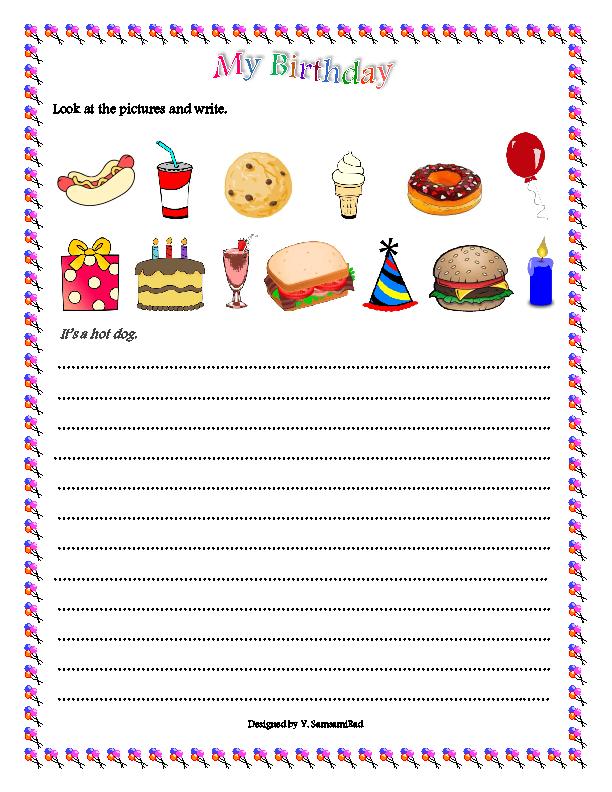 Birthday Vocabulary