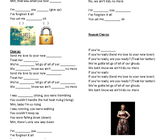 Song Worksheet: Send My Love by Adele
