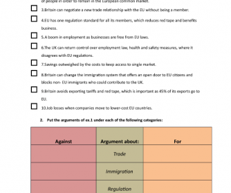 Movie Worksheet: Brexit