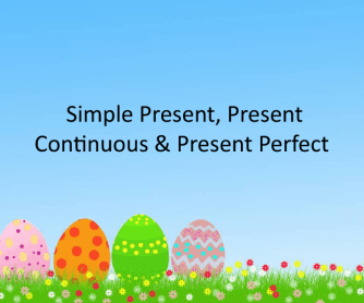 Simple Present Simple and Continuous Presentation/ Explanation Powerpoint