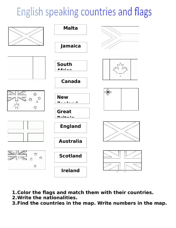 Vocabulary Comprehension Worksheets – Fraction Flags Worksheet