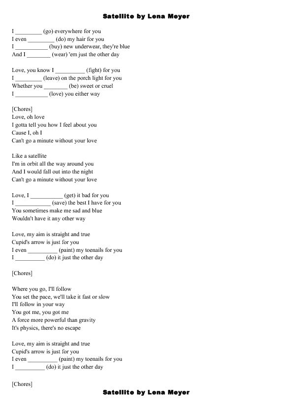 Worksheet Satellite By Lena Meyer