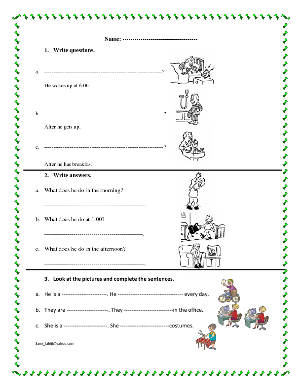 Proatmealus  Surprising  Free Jobs And Professions Worksheets With Licious Simple Present Worksheet With Delightful Cursive Writing Worksheets A To Z Also This These That Those Worksheet In Addition Colouring Worksheets For Nursery And Medial Vowel Worksheets As Well As Prepositions Worksheet For Grade  Additionally Number Line Worksheets Year  From Busyteacherorg With Proatmealus  Licious  Free Jobs And Professions Worksheets With Delightful Simple Present Worksheet And Surprising Cursive Writing Worksheets A To Z Also This These That Those Worksheet In Addition Colouring Worksheets For Nursery From Busyteacherorg
