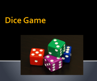 Dice Game- Simple Present
