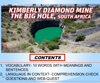 South Africa, Kimberley The Big Hole, Tourism