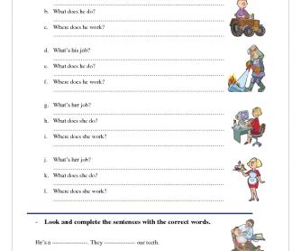 All Worksheets Occupations Worksheets Pdf Printable
