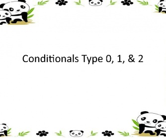 Conditionals Type 0, 1, 2 Powerpoint Presentation