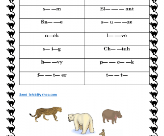 Dictation Animals