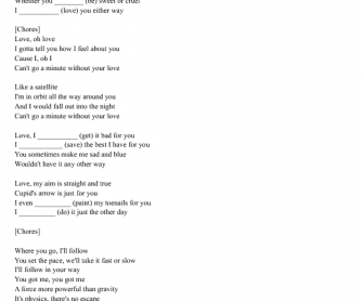 Song Worksheet: Satellite by Lena Meyer