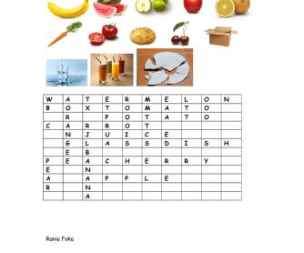 Crossword- Food