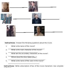 Movie Worksheet: The Book Thief