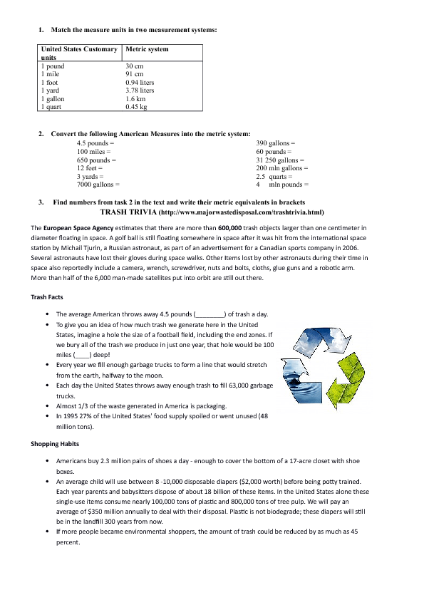FREE USA Worksheets - United states trivia