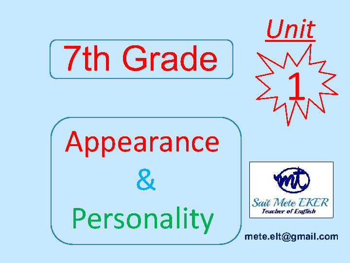 Appearance and Personality Presentation